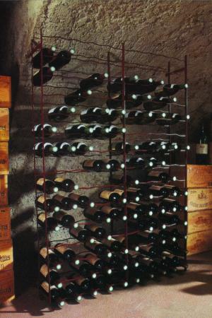 Stalen wijnrekken